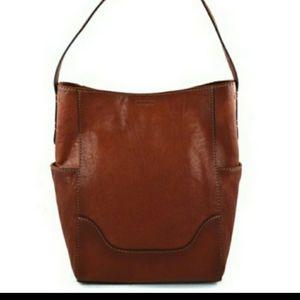 Fyre Cognac Brown Leather Hobo Shoulder Purse New